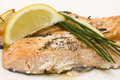 Baked salmon Stock Photo