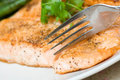 Baked salmon Stock Photos