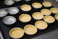 Baked shortcrust pastry for small tart in cake form Royalty Free Stock Photo