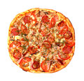 Baked Sliced Pizza Stock Photography