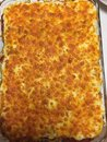 Baked spaghetti yummy and easy to make Stock Photography