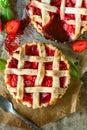 Baked tart cake