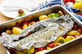 Baked trout Royalty Free Stock Photos