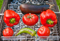 Baked vegetables on a grill Stock Image