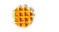 Baked waffles isolated on white background Royalty Free Stock Photo