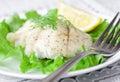 Baked white fish