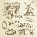 Baker, bakery, bread Royalty Free Stock Photo