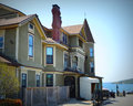 Baker House Victorian Mansion Back Royalty Free Stock Photo