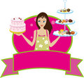 Bakery Baker Pastry Chef Girl Woman Diva Stock Image