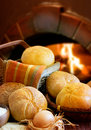 Bakery bread on a oven background Royalty Free Stock Images