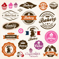 Bakery Bread Pastry badges and labels Stock Image