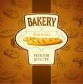 Bakery bread seamless background pattern labels pack for Royalty Free Stock Image
