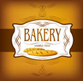 Bakery bread seamless background pattern labels pack for Stock Image