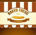 Bakery bread seamless background pattern labels pack for Royalty Free Stock Photography