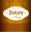 Bakery bread seamless background pattern labels pack for Stock Photo