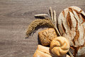 Bakery Bread and Sheaf Royalty Free Stock Photo