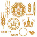 Bakery bread wheat vector illustration eps alternate file cdr Stock Images