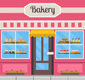 Bakery building front.