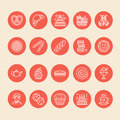 Bakery, confectionery line icons. Sweet shop product - cake, croissant, muffin, pastry, cupcake, pie Food thin linear