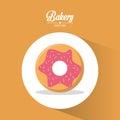 Bakery dessert cherry donut always fresh