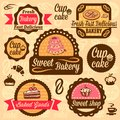 Bakery goods labels elegant vector and badges set all elements are grouped Royalty Free Stock Photo