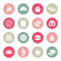 Bakery icon set vector illustration Stock Photos