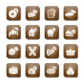 Bakery icon set vector illustration eps Stock Photography