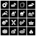 Bakery icon set vector illustration eps Royalty Free Stock Images