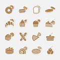 Bakery icon set vector illustration eps Royalty Free Stock Photo