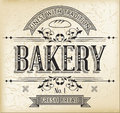 Bakery label vintage monocolor for vector file Stock Photo