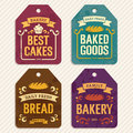 Bakery labels retro vector illustration Royalty Free Stock Photography