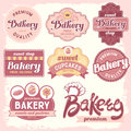 Bakery labels vintage badges and Royalty Free Stock Images