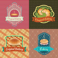 Bakery Logo Vintage Retro Labels