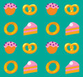 Bakery pattern Royalty Free Stock Photos