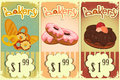 Bakery price tags Vintage Royalty Free Stock Photos