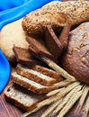 Bakery product assortment with bread Royalty Free Stock Image