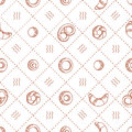 Bakery products seamless pattern. vector illustration