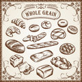 Bakery Set Whole Grain Royalty Free Stock Photography