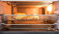 Bakery tray oven front view Royalty Free Stock Photos