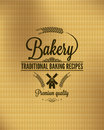 Bakery vintage bread label background eps Royalty Free Stock Images