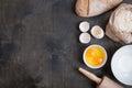 Baking Background With Eggshel...