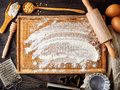 Baking Background With Flour, ...