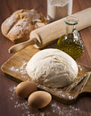 Baking bread Royalty Free Stock Images