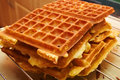Baking Brussels Waffels - Serie -  4 of 5 Royalty Free Stock Photography
