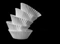Baking cups black and white stacked Royalty Free Stock Image