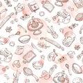 Baking doodle background Royalty Free Stock Photo