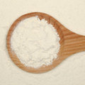 Baking: Flour on a spoon Stock Photo