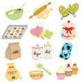 Baking icons Royalty Free Stock Photos