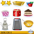 Baking icons 3 Royalty Free Stock Photo