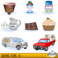 Baking icons set 4 Royalty Free Stock Images